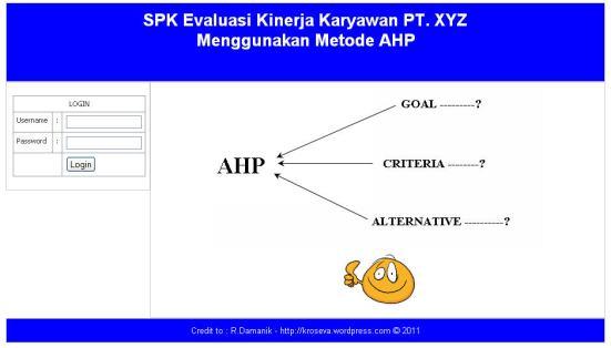 Contoh program ahp dengan php